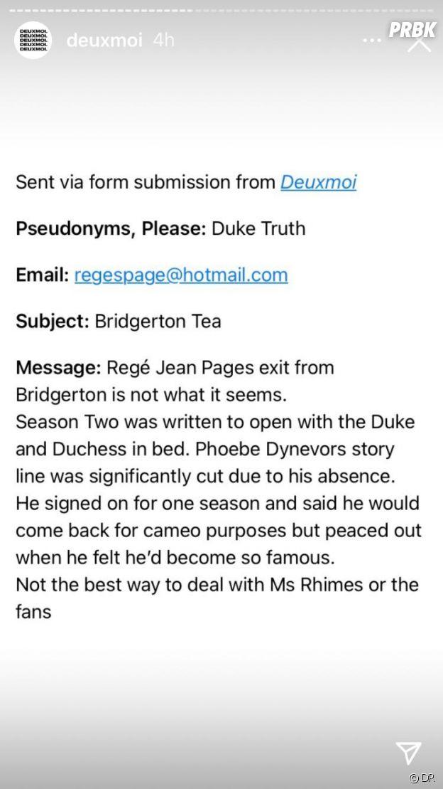 Regé-Jean Page devait jouer dans la saison 2 de La Chronique des Bridgerton selon Deuxmoi