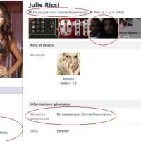Julie et Senna ... Ils affichent leur amour sur Facebook