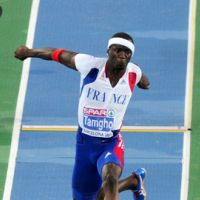 Teddy Tamgoh ... Il améliore son record du monde en salle