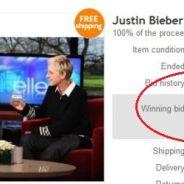 Justin Bieber ... Ses cheveux s'arrachent 30 000 euros sur eBay