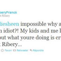 Charlie Sheen ... la déclaration de Franck Ribery sur sa page Twitter