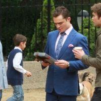 PHOTOS - Gossip Girl saison 5 : tournage pour Nate, Chuck et Dan