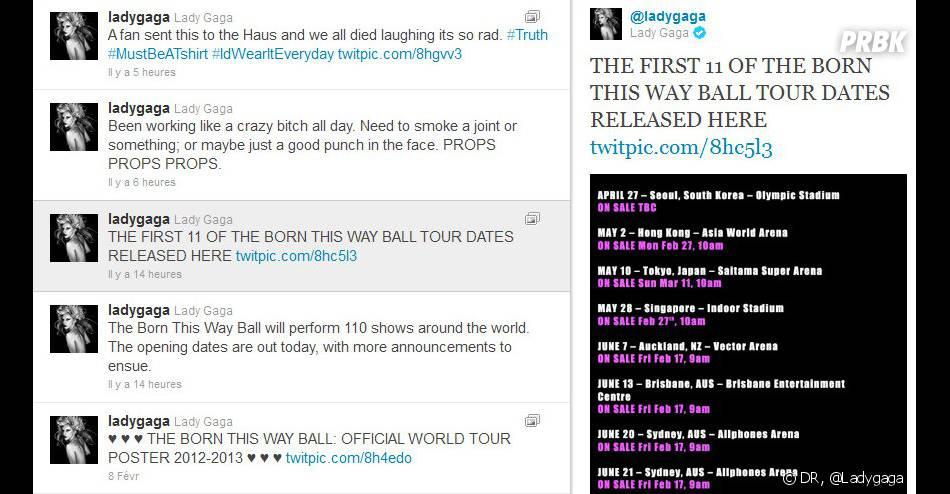 Lady GaGa lâche des infos sur son Twitter