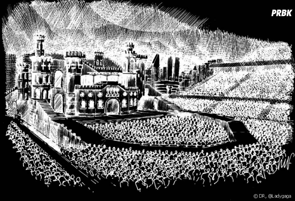 Born This Way Ball, ZE scène