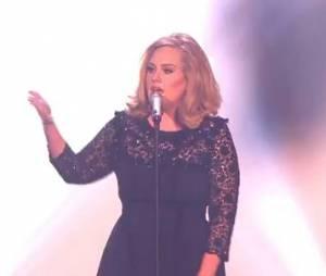 Adele parfaite en live aux Brit Awards 2012