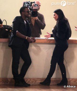 Kanye West et Kim Kardashian très complices.