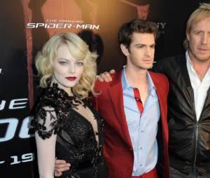 Andrew Garfield, Emma Stone et Rhys Ifans à Paris