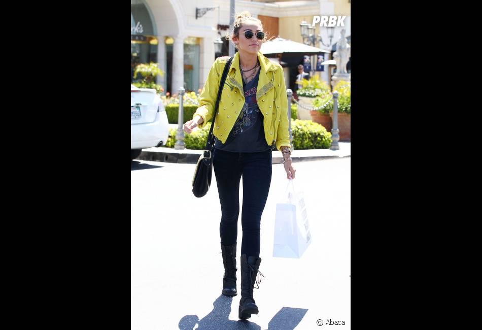 Quand elle ne fait pas du sport, Miley Cyrus se consacre au shopping !