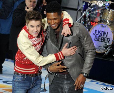 Justin Bieber soutient Usher