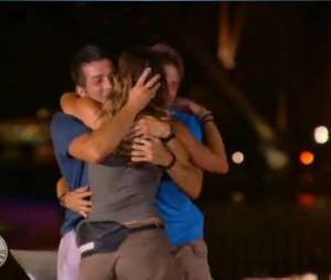 Marcelle s'est jetée dans les bras de Ludovic et Samuel