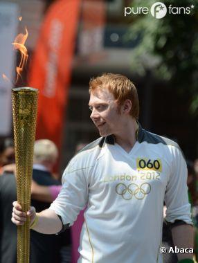 Rupert Grint enflammé à la cérémonie des JO !