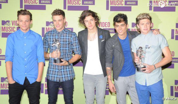 Les One Direction au top au palmarès des MTV VMA 2012