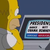Les simpson : Homer trompe Obama et vote pour Romney ! (VIDEO)