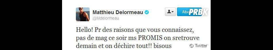 Matthieu Delormeau annonce l'annulation de l'émission