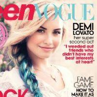 Demi Lovato : en mode schtroumph glam' pour la Une de Teen Vogue ! (PHOTO)