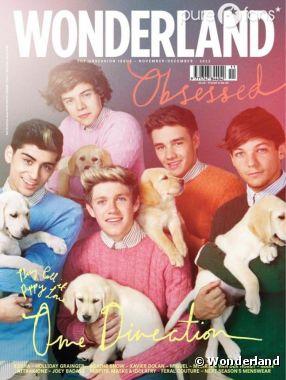 One Direction : En couv' du magazine Wonderland du mois de novembre/décembre 2012 !