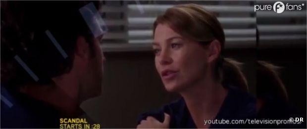 Meredith va encourager Derek dans Grey's Anatomy