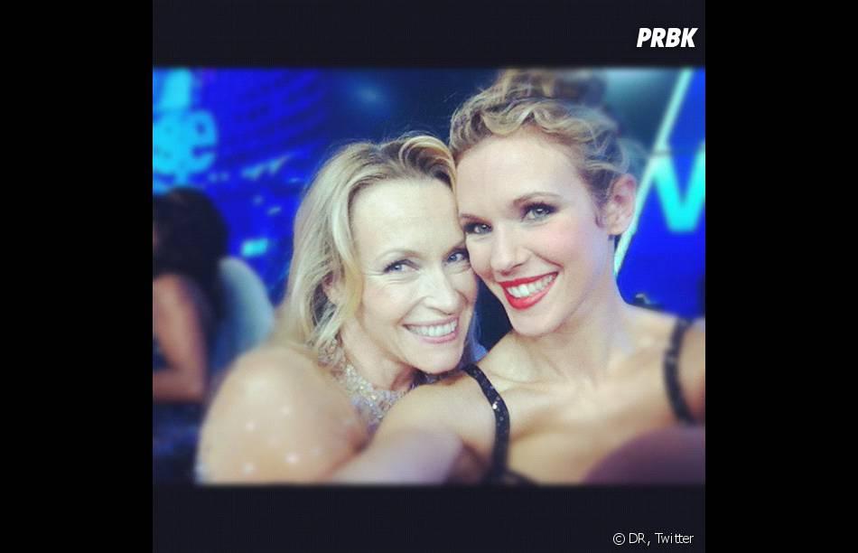 Les copines Lorie et Estelle Lefébure se retrouvées pour la finale de Danse avec les stars