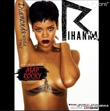 Rihanna est encore nue pour l'affiche de sa tournée !