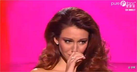 Delphine Wespiser fond en larmes lors de l'élection de Miss France 2013