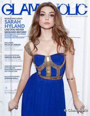Sarah Hyland sublime en une de Glamoholic