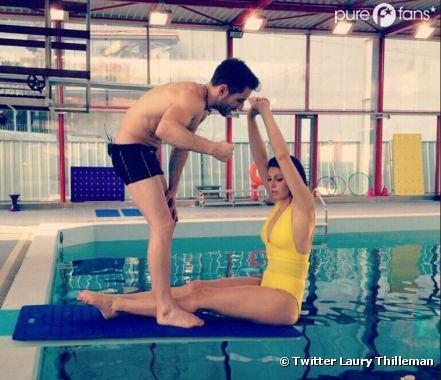 Laury Thilleman s'entraîne dur pour Splash, le grand plongeon