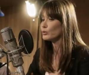 """Carla Bruni chante """"Chez Keith et Anita""""."""