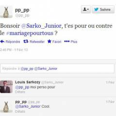 Mariage gay : Louis Sarkozy pour ? Sa réponse sur Twitter !