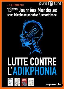 L'affiche des Journées Mondiales sans téléphone portable et smartphone