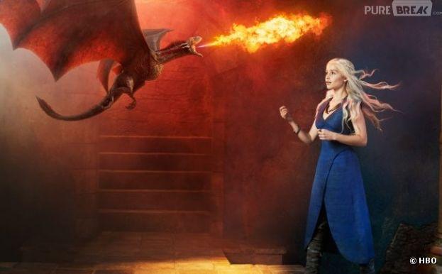 Daenerys fait grandir ses dragons dans Game of Thrones