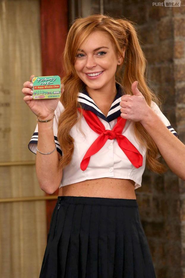 Lindsay Lohanen écolière sexy dans Anger Management