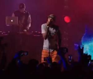 Pharrell Williams, live de Get Lucky le 19 avril 2013 à New-York