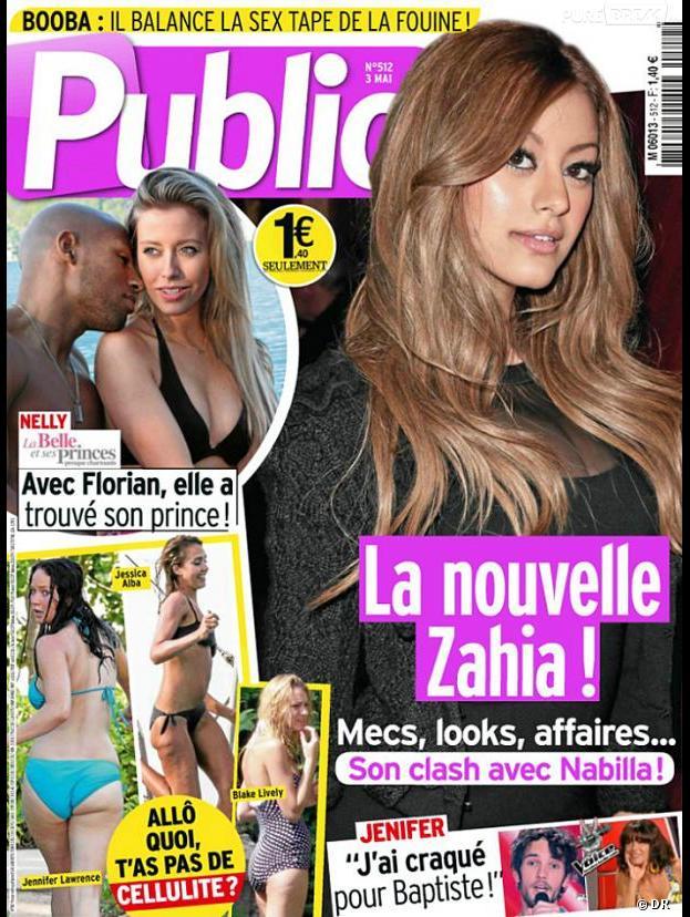 Nelly et Florian, enlacés pour une paparazzade dans le Public du 3 mai 2013