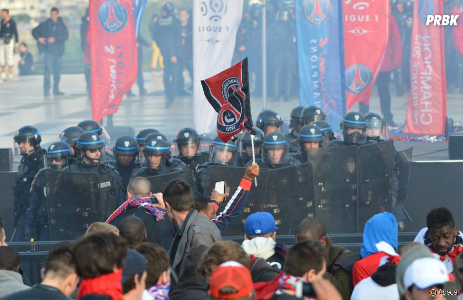 Débordements au Trocadéro lors de la cérémonie du PSG