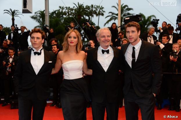 L'équipe du film Hunger Games 2 sur la croisette