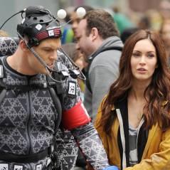 Megan Fox face à Raphaël sur des photos de tournage du film Les Tortues Ninja