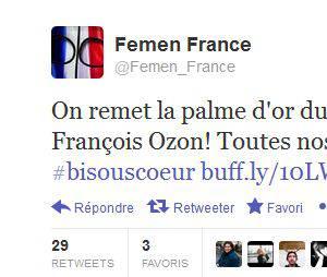 Les Femen s'en prennent à François Ozon