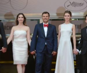 François Ozon pendant la montée des marches de Jeune et Jolie (Cannes 2013)