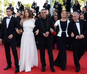 L'équipe du film La vie d'Adèle pour la cérémonie de clôture du Festival de Cannes 2013, le 26 mai