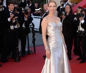 Uma Thurman pour la cérémonie de clôture du Festival de Cannes 2013, le 26 mai