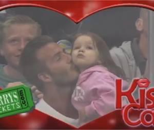 Une kisscam pour David Beckham et sa fille Harper