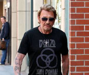Johnny Hallyday dans les rues de Los Angeles, en avril 2013