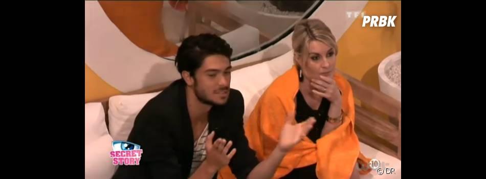 Julien et Sonja mal à l'aise dans Secret Story 7