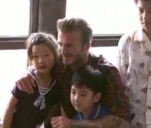 David Beckham visite un hôpital pour enfants en Chine, juin 2013