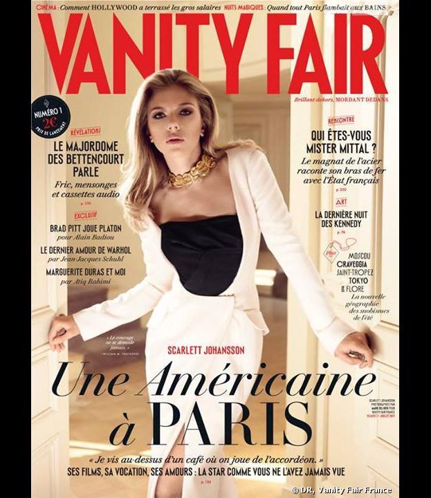 Vanity Fair France : Scarlett Johansson en couverture du premier numéro