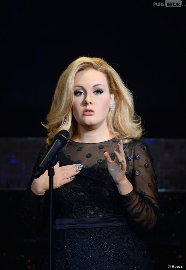 La statue de cire d'Adele au musée de Madame Tussauds de Londres et Amsterdam