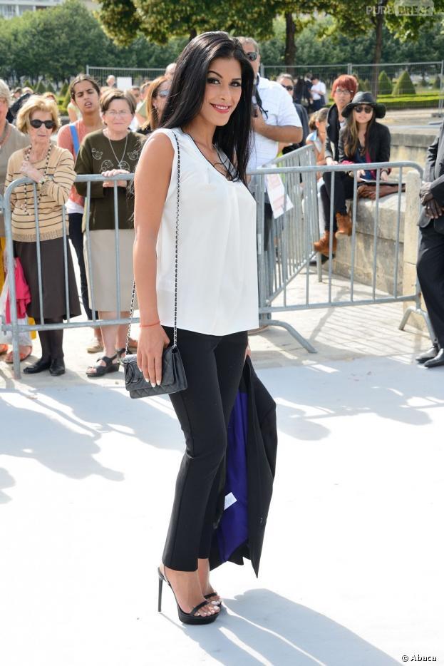 Ayem Nour bluffante au Défilé Dior le 1er juillet 2013
