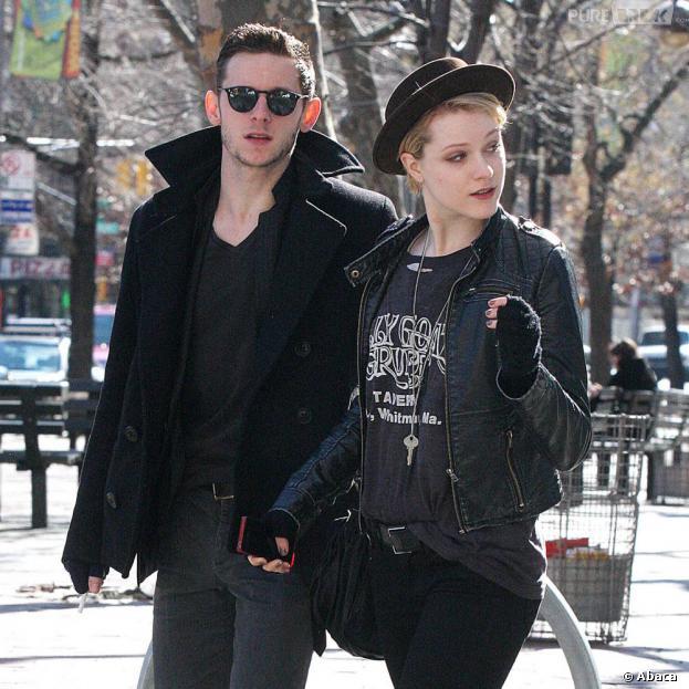 Evan Rachel Wood et Jamie Bell à New York, le 20 février 2012