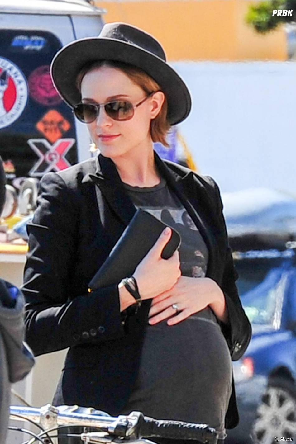Evan Rachel Wood à Los Angeles pendant sa grossesse, le 17 juillet 2013