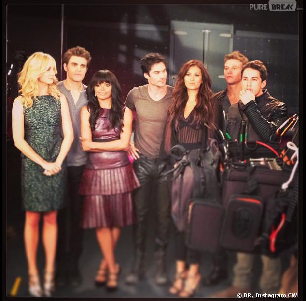 Vampire Diaries saison 5 : le casting dans les coulisses d'un photoshoot